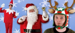 Santa Claus Reindeer and Elf Costumes